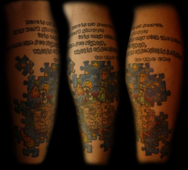 The Little Prince Puzzle Tattoo
