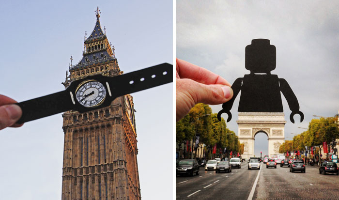 I Transform Famous Landmarks Using Paper Cutouts