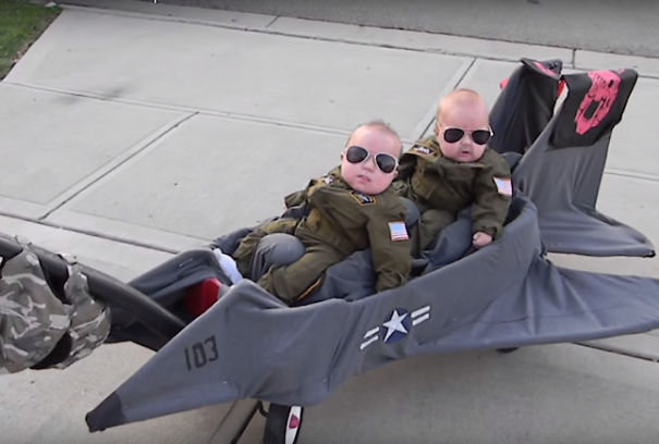 Twin Top Gun Pilots