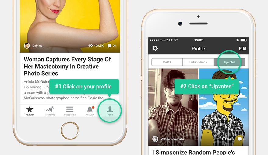Bored Panda Upvotes Tab App