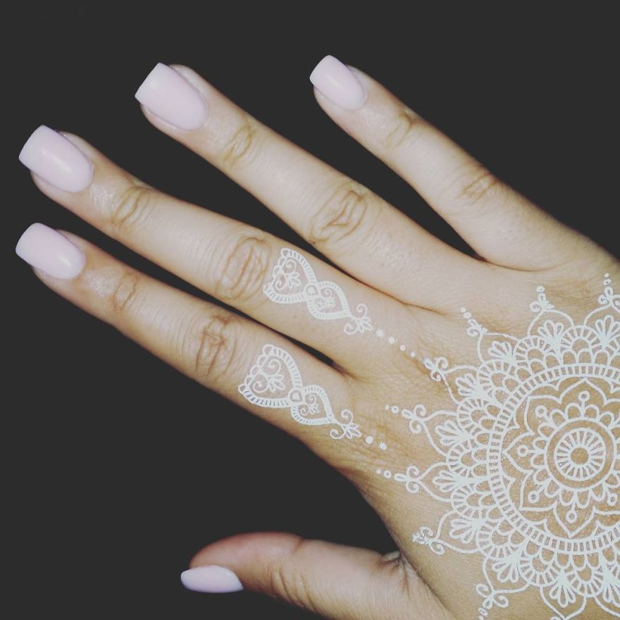 White Mehndi Tattoo : Henna tattoo white makedes