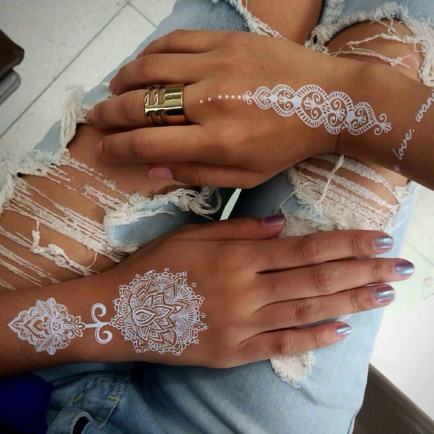 White Henna: White Henna Tattoos