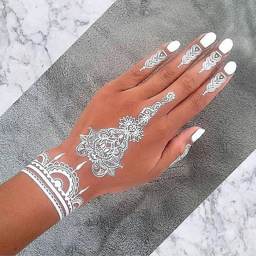 22 awesome henna art white for White henna tattoo ink