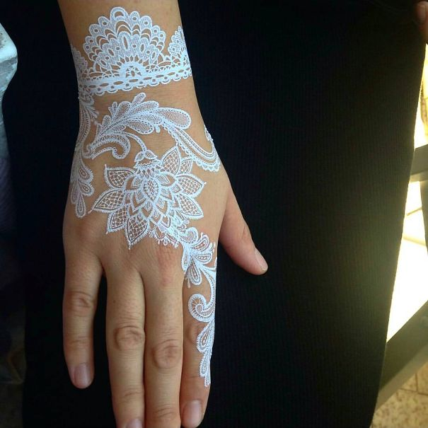 Henna Style Tattoos Lace Tattoo: Stunning White Henna-Inspired Tattoos That Look Like