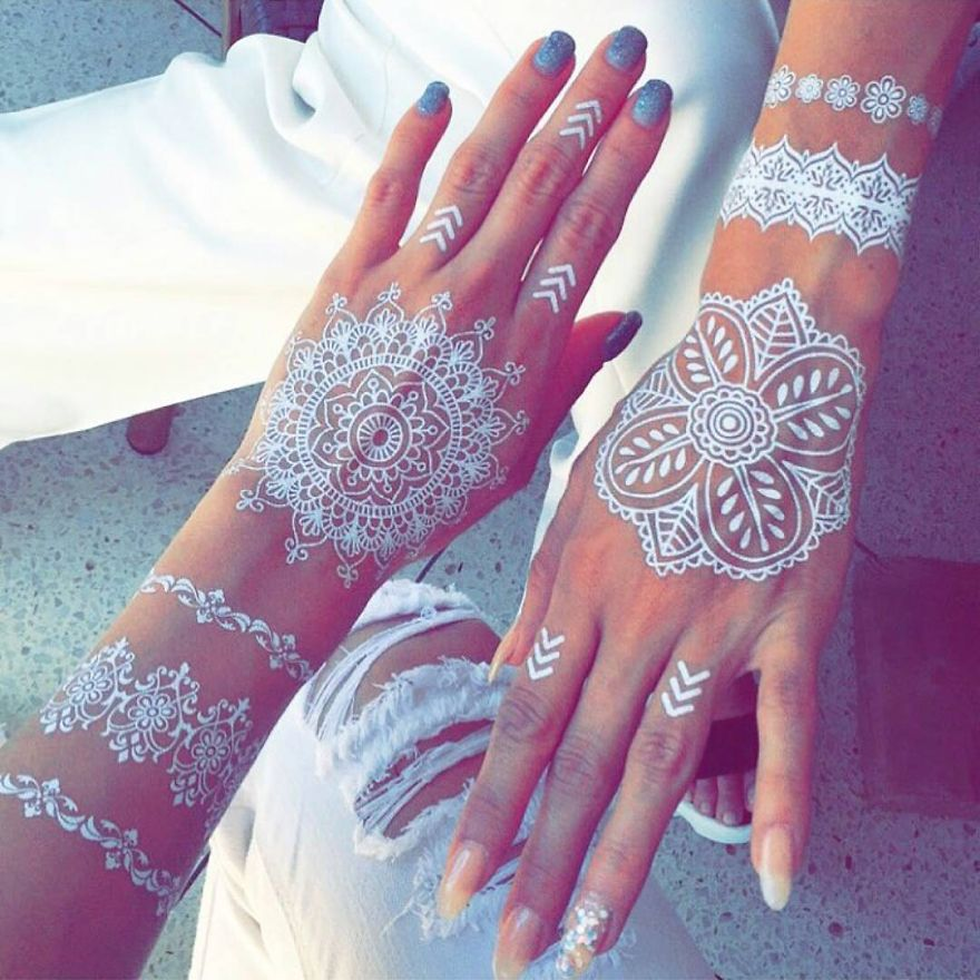 Henna And Tattoo Art: White Henna Tattoos