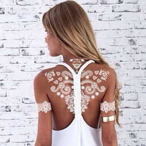 Stunning White Henna-Inspired Tattoos That Look Like Elegant Lace