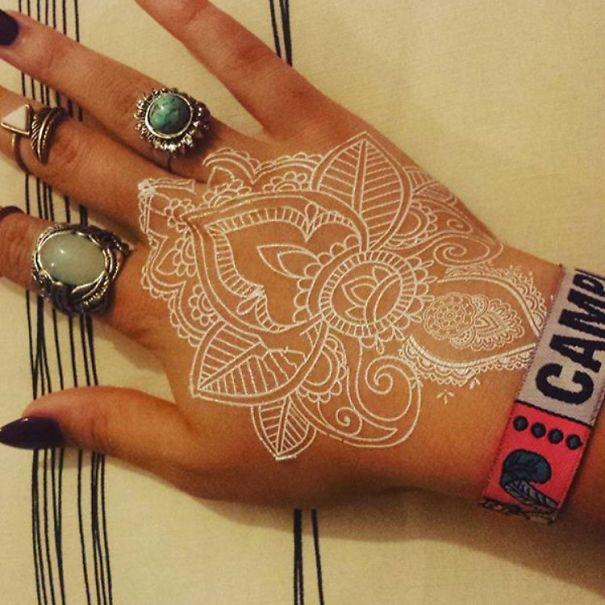 White Henna Tattoos