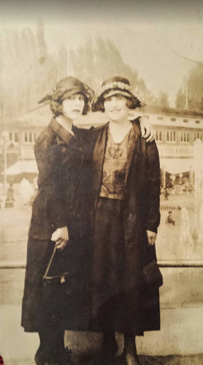 Two Women Standing Out Front Of An Asylum; Circa 1915
