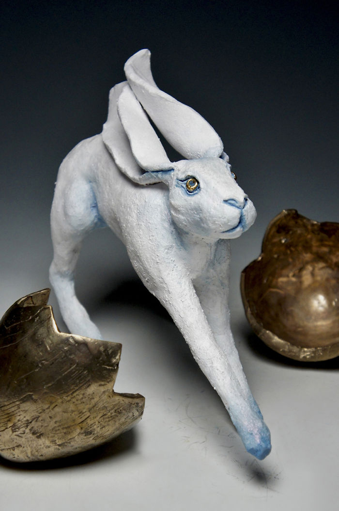 6 Bronze And Ceramic Hares Explore Different Cultures