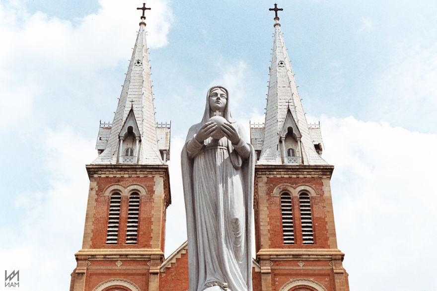 #prayforparis From Saigon Notre-dame Basilica, Vietnam (namnguyen)