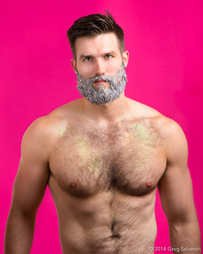 Glitter Beard, From 2014… Just Saying! :) Preparatory Study For Beards Of New York, The Book