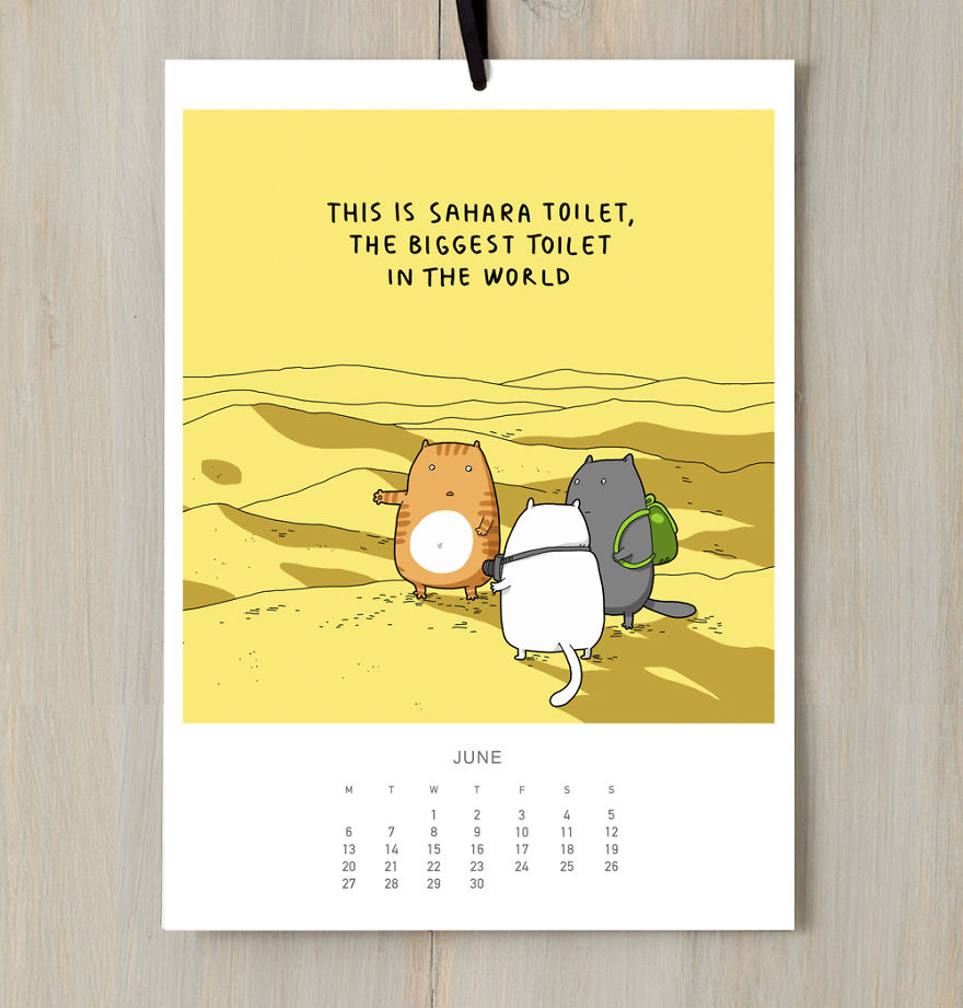 I Created A Cat Calendar To Make You Smile All Year Round In 2016 ...