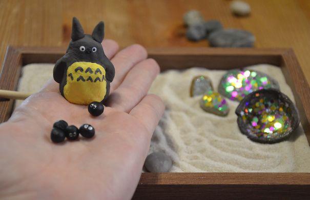Totoro's Magic Zen Garden By Full Of Daisies On Etsy.com