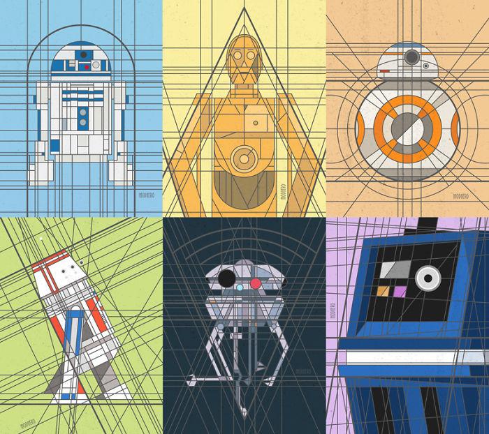 Art Deco Droid Prints