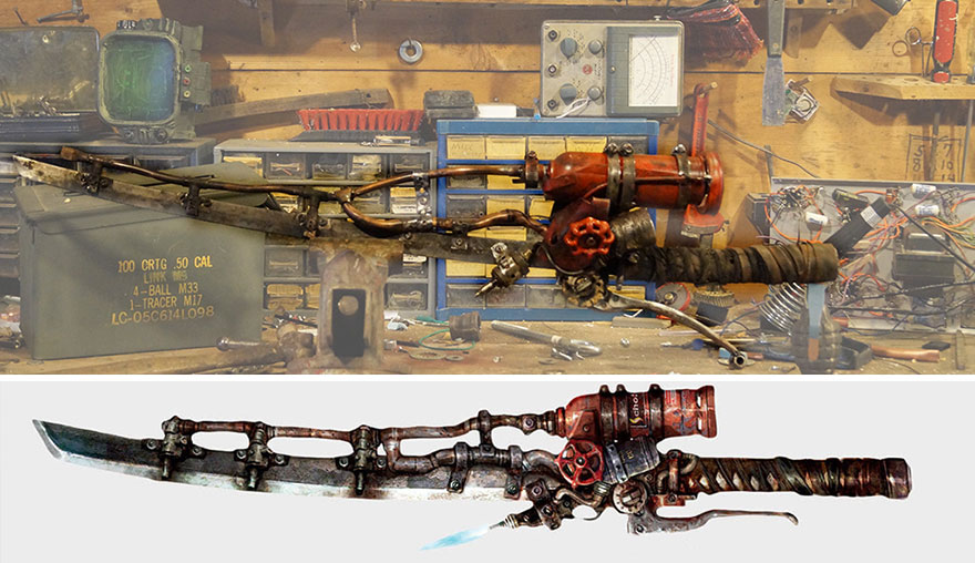 I Made The Flaming Sword From Fallout 4 In Real Life