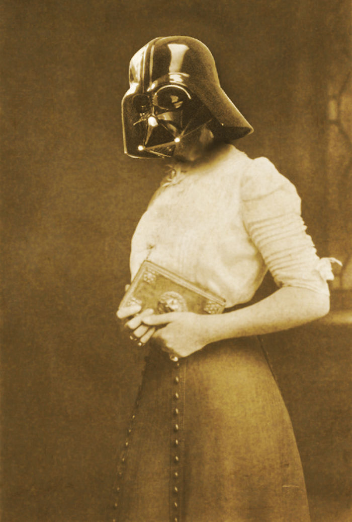 i merge star wars characters with ancient paintings and vintage