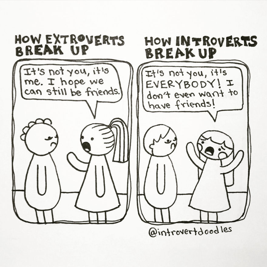 How Introverts Break Up