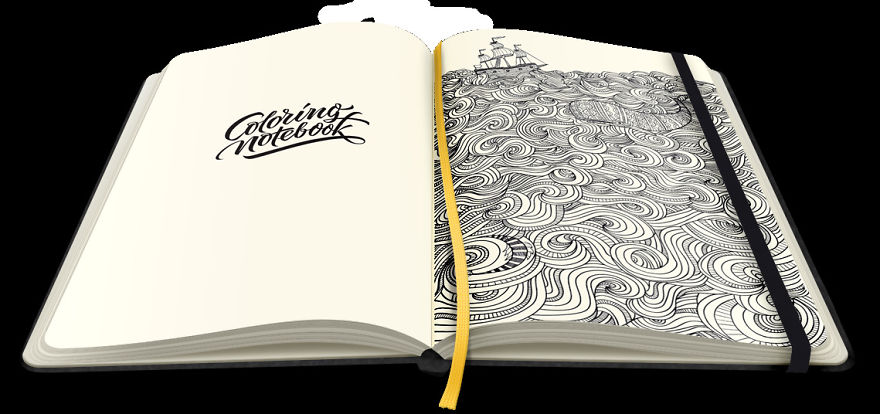 Coloring Notebook With Beautiful Coloring Pages Helps