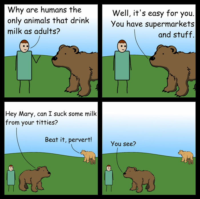 Milk And Bears: The Big Milk Question Comic