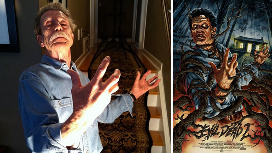 My Dad Poses For My Movie Posters That I Paint