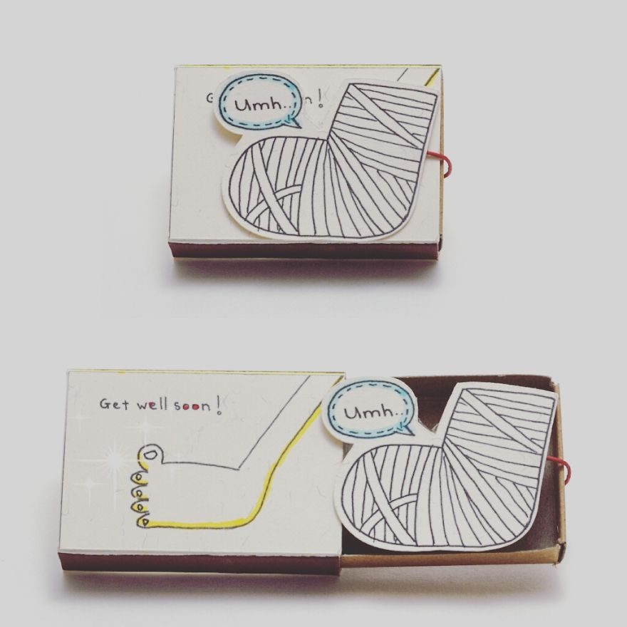 Tiny and Darling Get Well Soon Greeting Card from 3xu's Artist