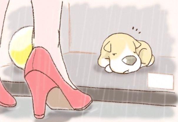 An Illustrated Story Of One Sad Dog | Bored Panda