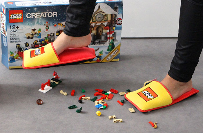 LEGO Creates Anti-LEGO Slippers To End 66 Years Of Horrible Pain