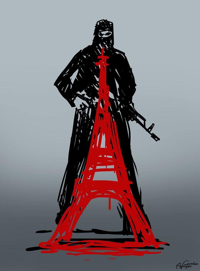 Attacking Paris, By Gunduz Aghayev