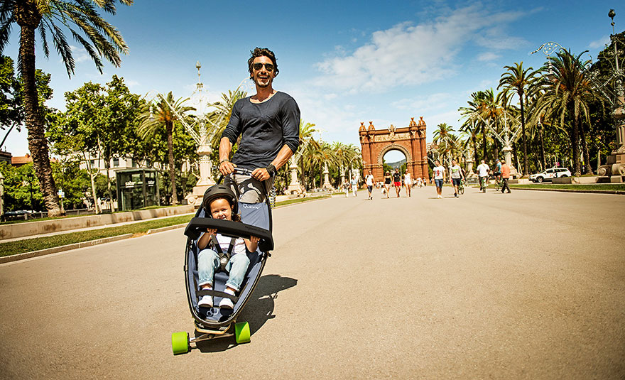 Longboard Stroller Lets Both Kids And Their Parents Have ...