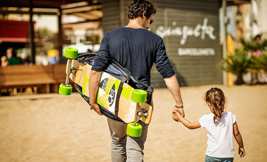 longboard stroller lets both kids and their parents have