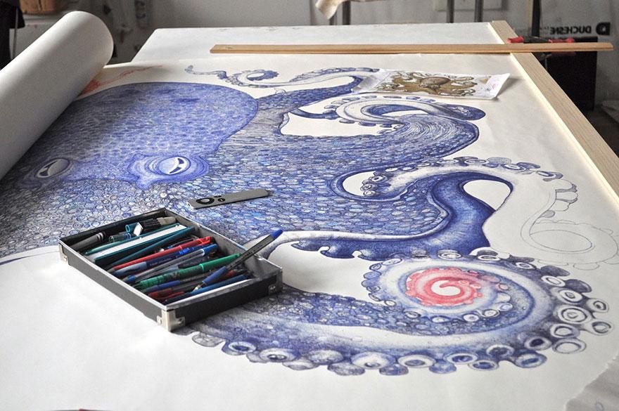 ballpoint-pen-drawing-octopus-raymond-cicin--2