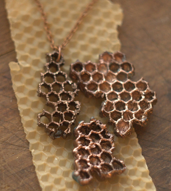 Beautiful Jewelry Made From Natural Objects Using Electroforming Method