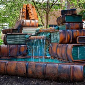Fountain Outside The Cincinnati Public Library