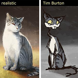 Artist Draws Her Cat In 12 Different Styles From Disney To Tim Burton