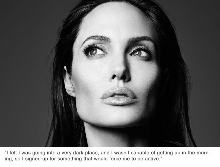 Angelina Jolie, Depression