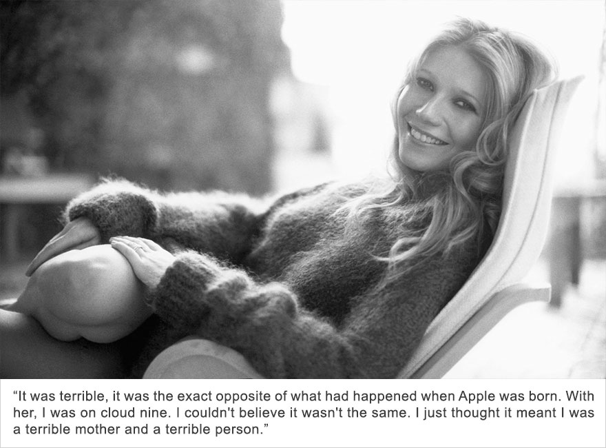 Gwyneth Paltrow, Postpartum Depression