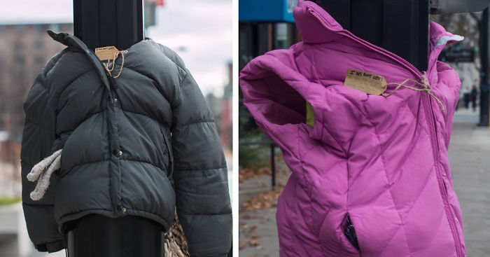759968033 These Kids In Canada Tied Coats To Street Poles To Help Homeless Prepare  For Winter