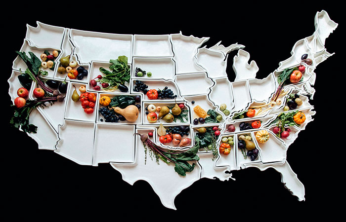 The '50 United Plates' Map Set Literally Brings The US To Your Table