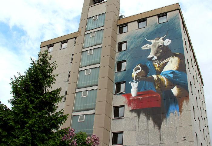 Cow Royal: My Mural Painted In Frankfurt