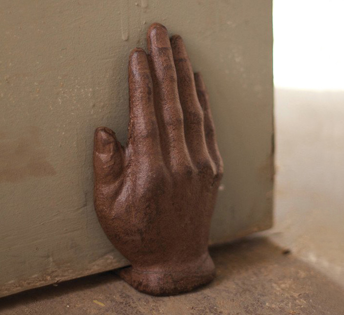 Cast Iron Hand Doorstop
