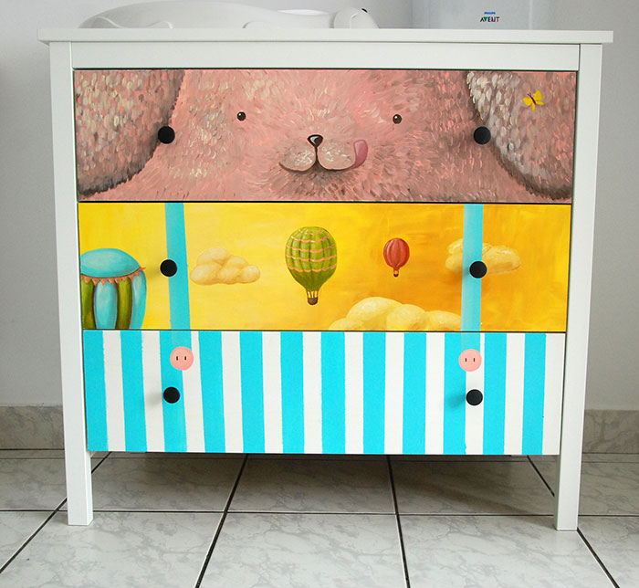 I Give New Life To Boring Furniture By Painting Cute Characters