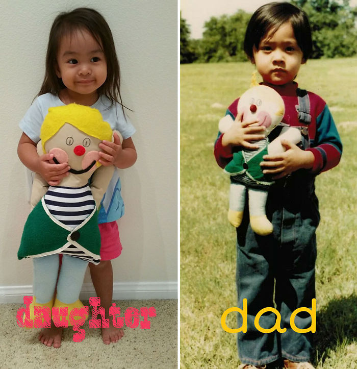 Dad Gives His Childhood Doll's Replica To His Daughter