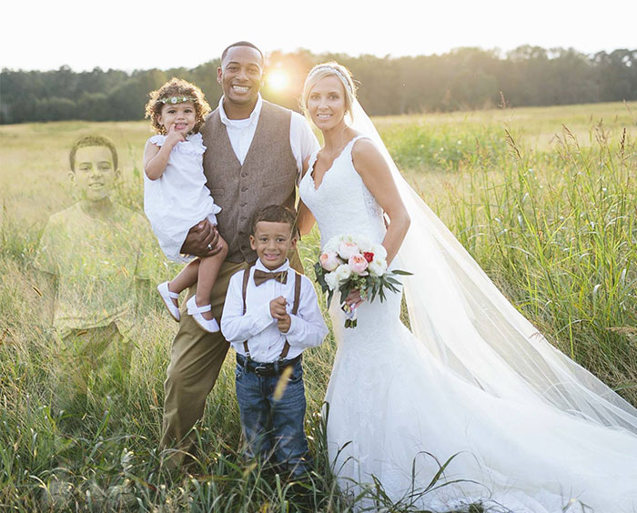Mom Honors  Her Dead 8-Year-Old Son In Heartbreaking Wedding Pics