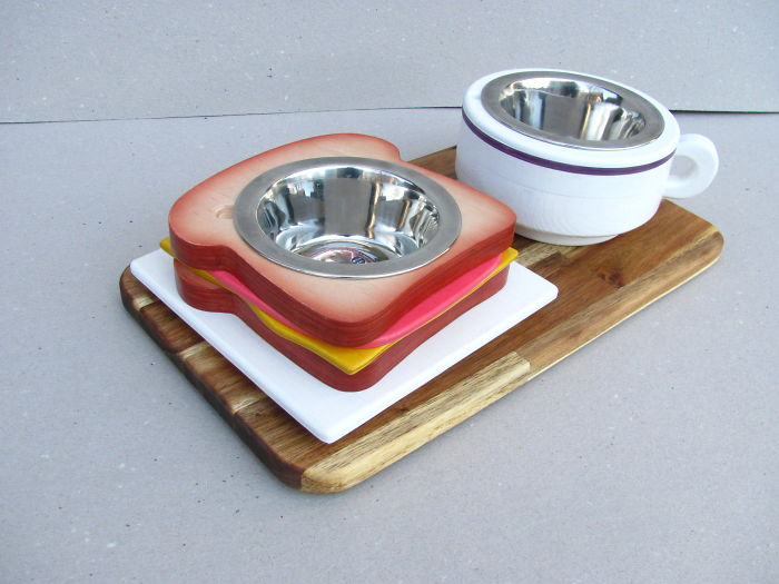 Decorative And Playful Pet Bowl Stands