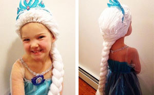 Mom Makes Disney Princess Wigs For Kids With Cancer
