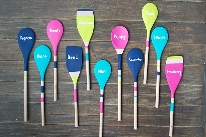 Wooden Spoon Garden Markers