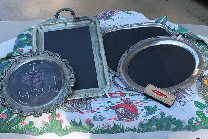 Chalkboard On A Silver Platter
