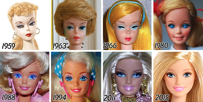 56 Years Of Barbie's Evolution