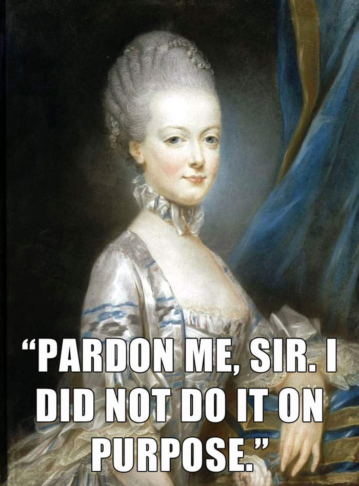 Marie Antoinette Said This As She Approached The Guillotine, Convicted Of Treason And About To Be Beheaded