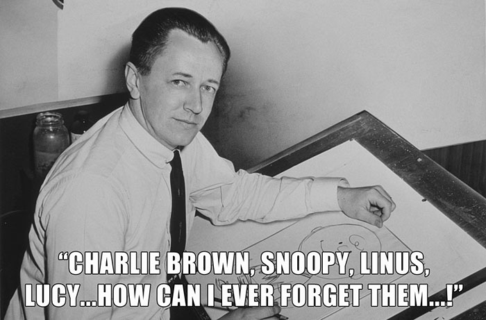 Charles Schulz. From The Final Peanuts Comic Strip Released On February 13, 2000 (One Day After His Death)